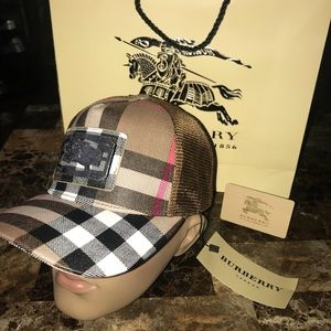 Brand New HOT Burberry Brown SnapBack Hat